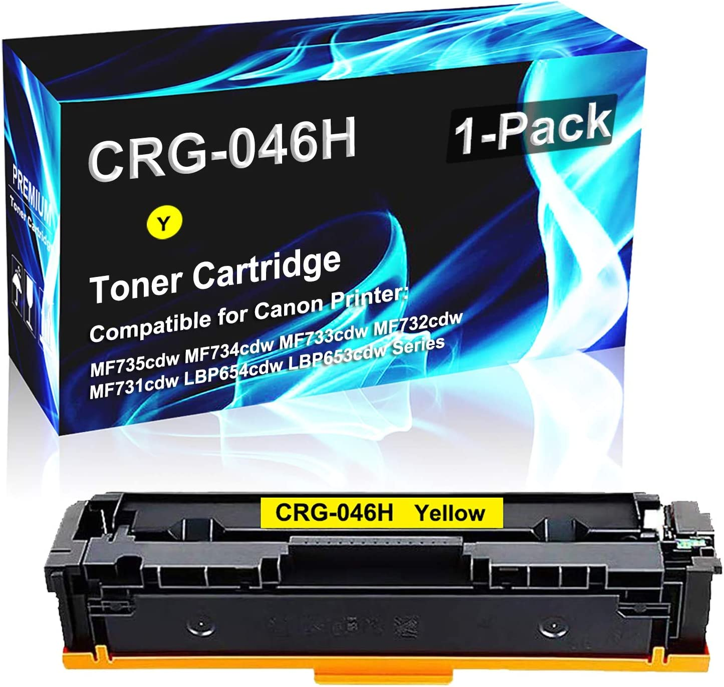 1 Pack (Yellow) Compatible High Yield MF735cdw MF734cdw MF733cdw MF731cdw LBP654cdw LBP653cdw Printer Toner Replacement for Canon CRG046H   046H   CRG-046H Laser Printer Toner Cartridge