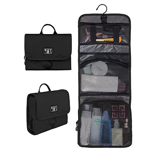 5b76cd9c8f39 BAGSMART Small Travel Toiletry Bags Hanging Bathroom Bag Portable Toiletry  Kit Clear Cosmetic Makeup Bag Case