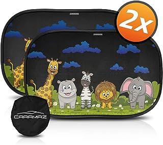 Parasol coche infantil con protección UV - autoadhesivo, 2 uds, para proteger del sol a bebés y mascotas, parasol coche bebé de animales de safari