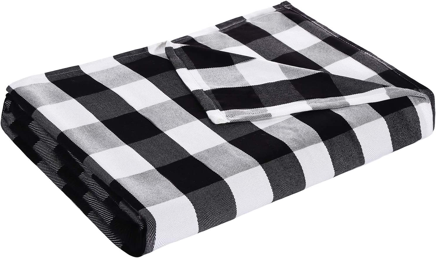 Great interest DANGTOP Buffalo Plaid Cooling Black White Blankets Lightweight Special sale item