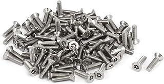 Aexit M2x10mm 304 vis Torx t/ête plat acier inoxydable vis antivol 100pcs 392C463