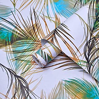 Vinilo autoadhesivo Película decorativa Pavo real Pluma Muebles Pegatina Papel tapiz de papel para paredes Armarios Estant...