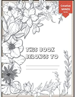 Creative Minds Colouring Notebook: with printed floral motifs