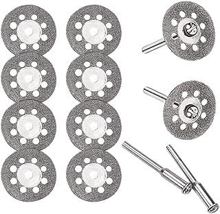 丸穴ミニダイヤモンドカッター 直径22mm×10枚 ダイヤモンドカッティングディスク 2.35mm軸×2本+3mm軸×2本 ダイヤモンドビットブレードセット ミニルーター/ルーター/リューター用