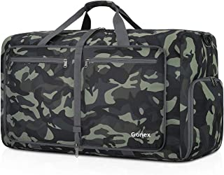 Gonex 60L Packable Travel Duffle Bag Foldable Duffel Bags for Luggage Gym Sports Camping Travelling Cycling Storage Shopping Water & Tear Resistant