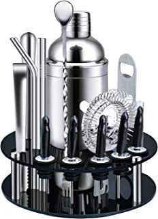 X-cosrack Bar Set,18-Piece Stainless Steel Cocktail...