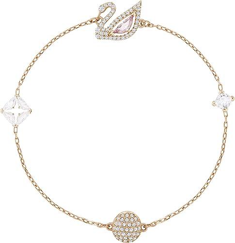 Swarovski Women's Dazzling Swan Crystal Jewelry Collection, Rose-Gold Finish