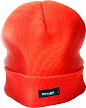Oodoor Warm Winter Beanie Hats with 40gm Thinsulate Soft, Stretchy - Cuffed, Slouchy Beanies for Men, Women - Neon Orange Red - Winter Toboggan Hats