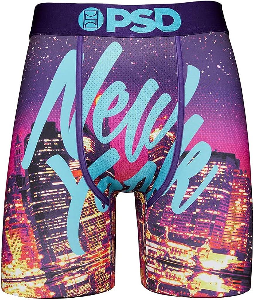 PSD Underwear Men's NYC Lights Printed Boxer Brief