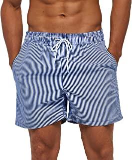 SILKWORLD شلوارک شنای مردانه کوتاه خشک ورزشی و آستر مش و جیب