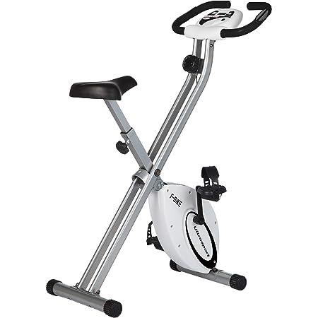 Niveles de Resistencia Ajustables con sensores de Pulso de Mano Unisex Bicicleta Plegable para Deportistas y Personas Mayores Ultrasport F-Bike Advanced est/ática LCD Hometrainer