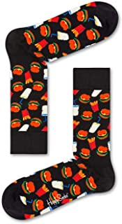 Happy Socks for Men and Women | 1 Pair, Colorful, Fun, Unique, Food Themed Printed Patterns | Premium Cotton Sock