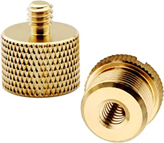 """XINJUE 2 Piece(Solid Brass) Used for Camera Tripod Accessories 5/8"""" Female to 1/4"""" Male Adapter, 5/8"""" Male to 1/4"""" Female ..."""