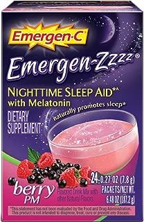 Emergen-C Emergen-Zzzz Nighttime Sleep Aid Dietary Supplement Berry PM - 24 Packets, Pack of 5