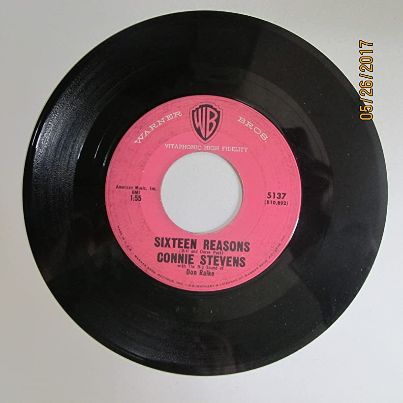 Connie Stevens - Sixteen Reasons / Little Sister (7
