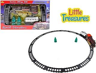 Little Treasures Rail Master steam Engine Sleek Train Educational Play Set Toy