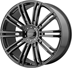 4 KMC KM677 20x8.5 5x4.5/5x120 35mm Gloss Black Wheels Rims 20