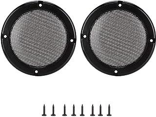 Capa protetora de alto-falante estável e resistente, círculo decorativo de alto-falante durável bonito e prático, alto-fal...