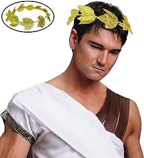 Skeleteen Gold Roman Laurel Wreath - Roman Emperor Crown and Greek God and Goddess Circlet