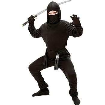 WIDMAN Ninja - Niños Disfraz - Grande - 158cm: Amazon.es: Juguetes ...