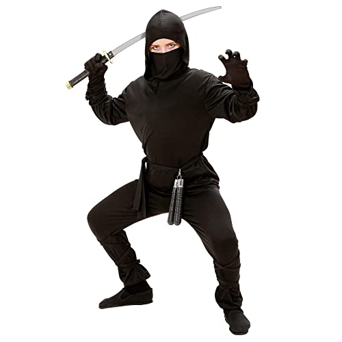 7ddf01d08 WIDMANN Ninja - Childrens Fancy Dress Costume - Large - 158cm