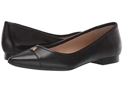 LAUREN Ralph Lauren Halena (Black Super Soft Leather) Women