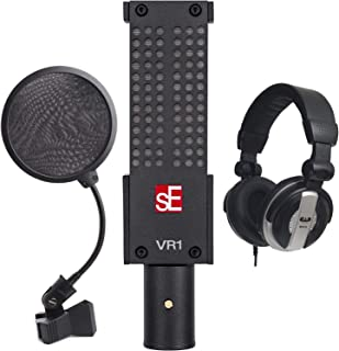 sE Electronics VR1 Voodoo Passive Ribbon Microphone with Shockmount and Case + CAD Audio Closed-Back Studio Headphones + 4-Inch Pop Filter