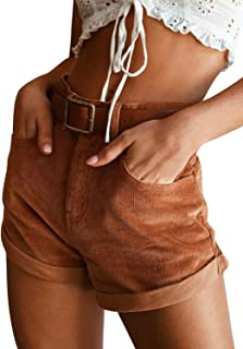 Best brown high waisted shorts Reviews