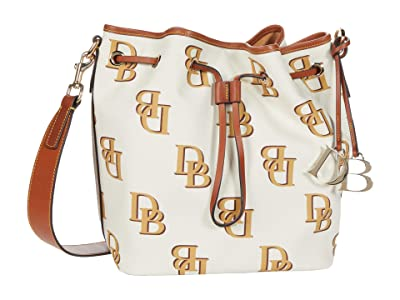 Dooney & Bourke Monogram Drawstring (Beige) Handbags