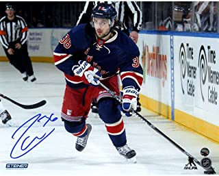 Mats Zuccarello Signed skates with the puck in Heritage Jersey 8x10 Photo - Steiner Sports Certified