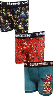 Bioworld Merchandising Boys' Super Mario Bros Character 3 Pack Athletic Boxer Briefs