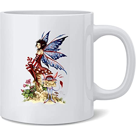 I Need Coffee Fairy by Amy Brown Art Ceramic Coffee Mug Tea Cup Fun Novelty Gift