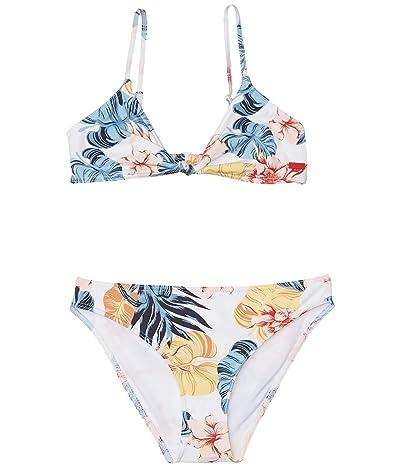Roxy Kids Beautiful Mind Bralette Swim Set (Big Kids) (Bright White Standard) Girl