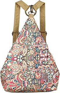 Original Women's Bohemia National Style Canvas Backpack Shoulder Bag (small), a