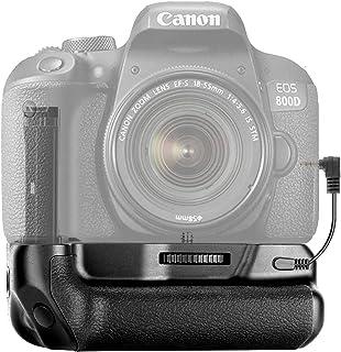 Neewer Clip de Batería Vertical con Soporte Batería Compatible con Canon EOS 800D/Rebel T7i/77D/Kiss X9i/9000D Funciona con 1 o 2 Baterías LP-E17 de Canon (Batería No Incluida)