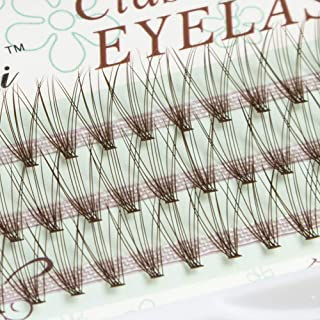 10Roots Thickness 0.07mm D Curl Brown Individual False Eyelashes Caramel Color Volume Eye Lashes Extensions Makeup Colorful Cluster Eyelashes (12MM)