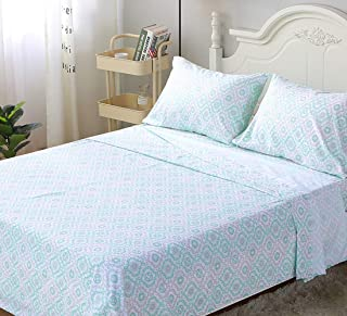 LanJia Bed Sheets Set King Size Soft Brushed Microfiber Bedding Sheets 4-PC, 100% Polyester Bedding Collection - Includes ...