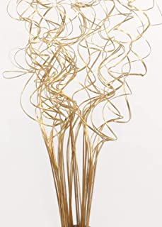 Green Floral Crafts - 2.5 Ft Tall Non-Glitter Gold Curly Ting