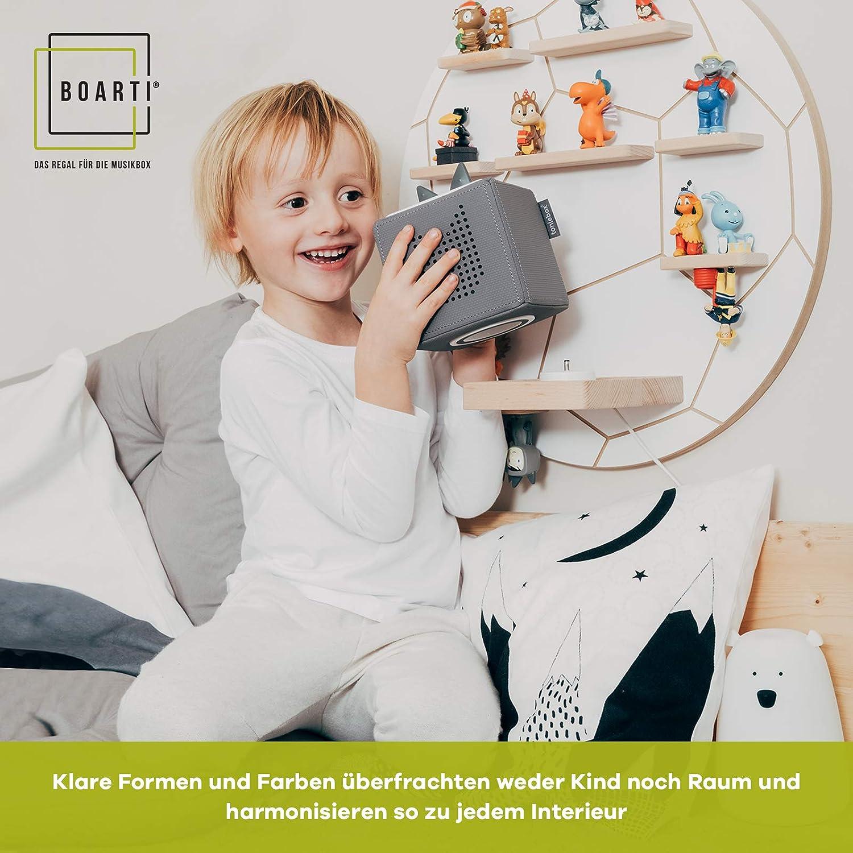 BOARTI Kinder Regal Pferd small in Weiß - geeignet für die Toniebox und ca. 20 Tonies - zum Spielen und Sammeln Pferde Kollektion
