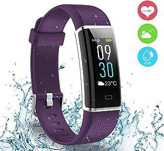 Montre Connectée, Ausun 130 Plus Couleur à Écran Tactile Podomètre Fitness Tracker dActivité