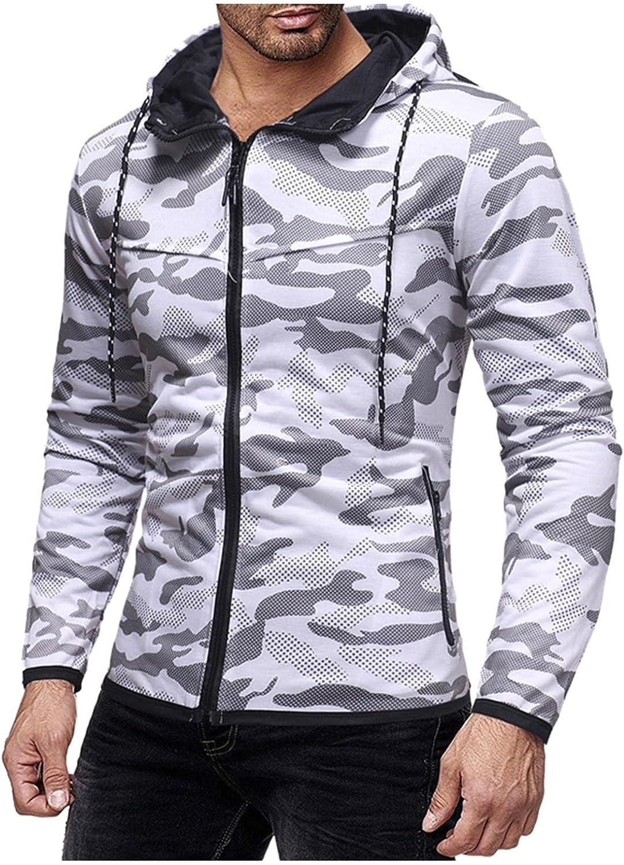 Hoodies for Men Men's Casual Slim Long-sleeve Camouflage Zip Up Hoodies Pullover Cardigan Fashion Hoodies & Sweatshirts