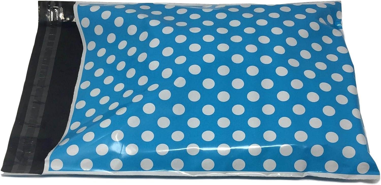 Shop4Mailers 10 x 13 Max 59% OFF Blue Polka Mailer outlet Envelopes Bag Poly 2 Dot