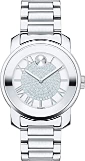 Women's BOLD Luxe Stainless Steel Watch with Roman Index Dial, Silver (Model 3600254)