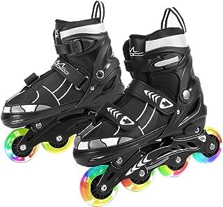 MoKo Inline Skates for Kids, Children's Inline Skates Adjustable Roller Skates for Girls Boys, Blades Inline Roller with L...