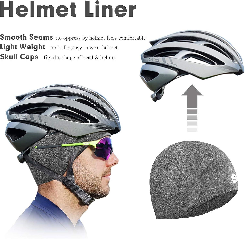 EMPIRELION Thermal Lightweight Cycling Helmet Liner Full Cover Ears Running Skull Cap Beanie Hats Unisex