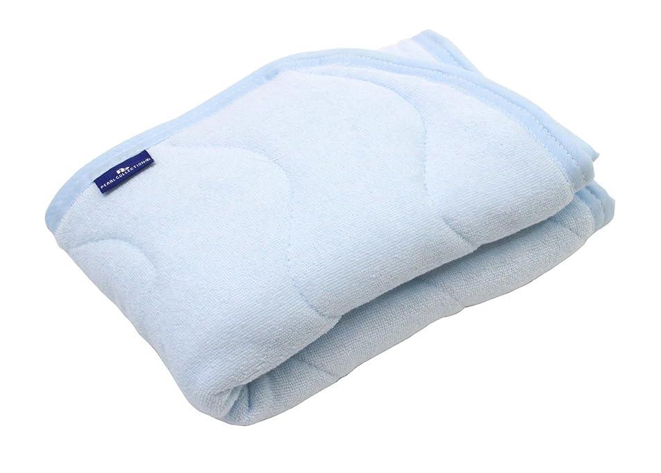 同一性朝ごはん成果抗菌防臭 SEK加工 綿シンカーパイル 枕パッド 43×63cm ブルー 2434BL