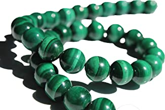 Malachite 8mm Natural, Energy Gemstone   Healing Power for Jewelry Making   Loose Beads   1strand 15.5 inch (46-50 Beads)   Well Polished Round   Oxxysaon