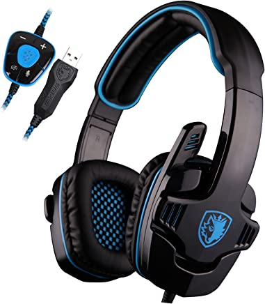 SADES SA901 7.1 Surround Sound USB Pro Gaming gioco cuffie Mic a distanza per PC Laptop Deep Bass, Controllo del Volume(blu) - Trova i prezzi più bassi