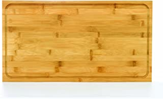 Camco Bamboo Stove Top Work Surface with Adjustable Legs & Built In Juice Groove  - Covers Stove Top To Create Additional Kitchen Workspace -  2 Burner (43547)