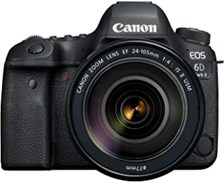 CanonEOS 6D Mark II 24-105mm f/4L IS II USM Lens, 26.2 MP DSLR Camera, Black